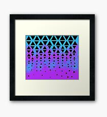 Triangle Puzzle Framed Print