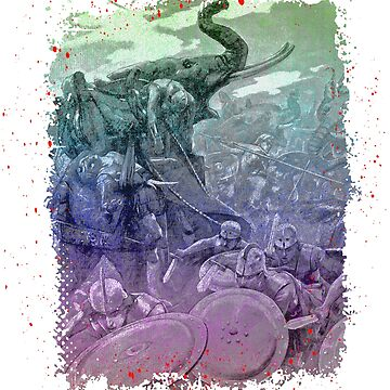 The Greek Phalanx Attacking In the Battle of the Hydaspes by nostalgiagame