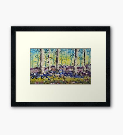 Through the Woods Framed Print
