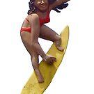 Haleiwa Sign Surfer Woman by northshoresign