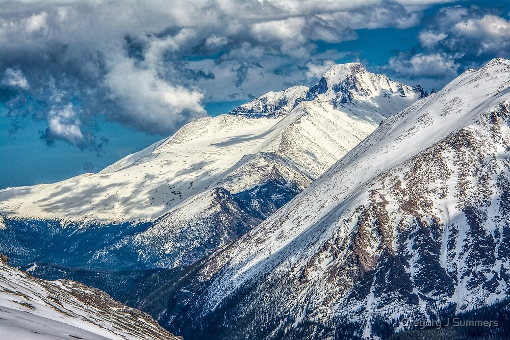 First View Longs Peak by Gregory J Summers