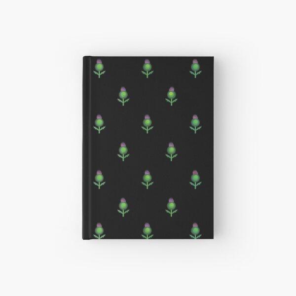 Cute Repeating Thistle Pattern Hardcover Journal