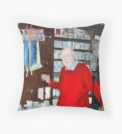 """O'sullivans, Kilrush"" - Oil Painting Throw Pillow"