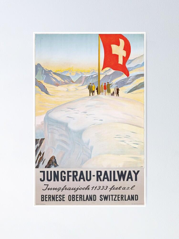 Alternate view of Jungfrau Railway Poster