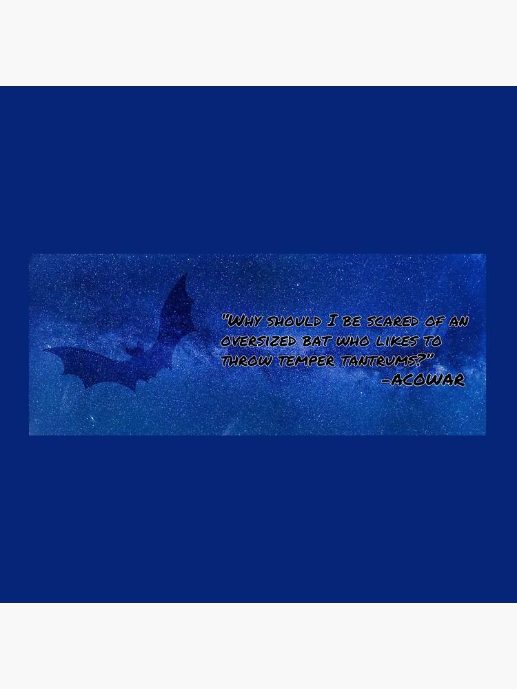 Übergroße Fledermaus von Bookquotes123