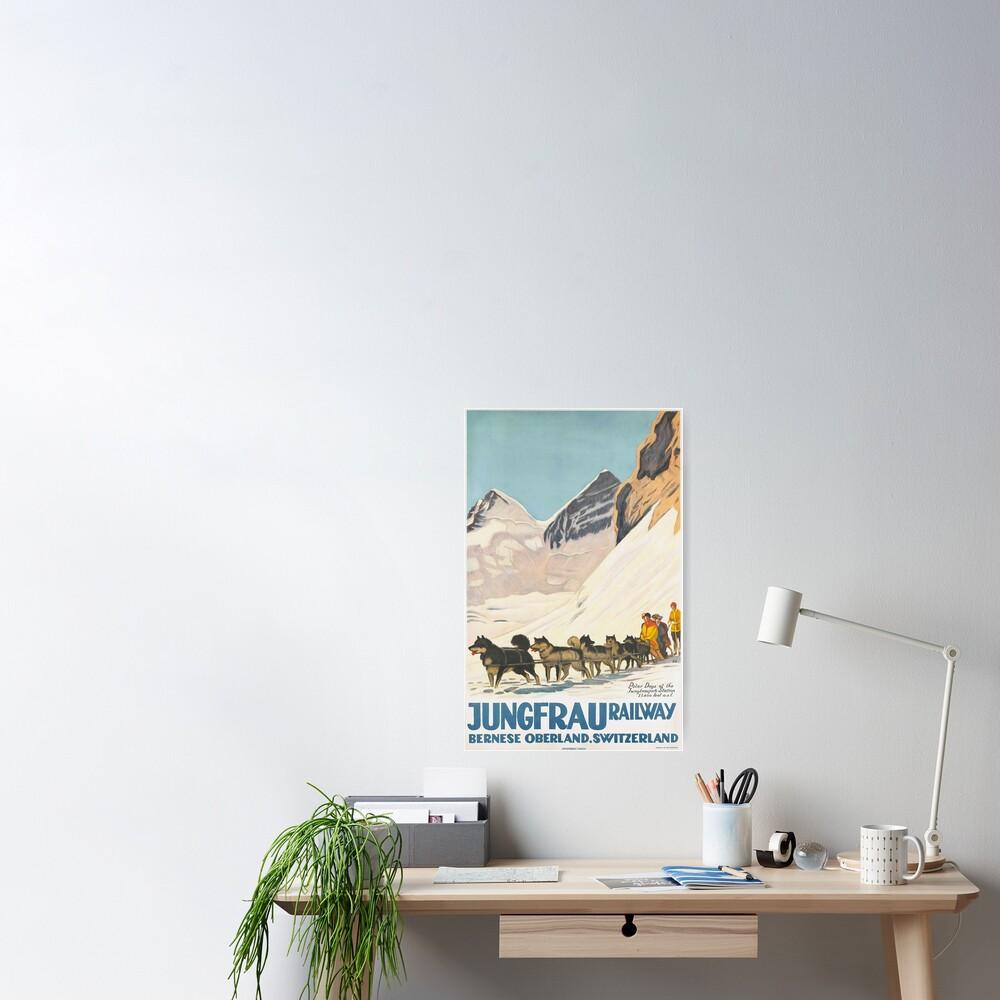 Jungfrau Huskies Poster