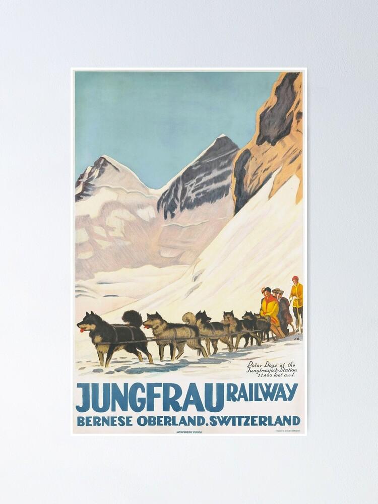 Alternate view of Jungfrau Huskies Poster