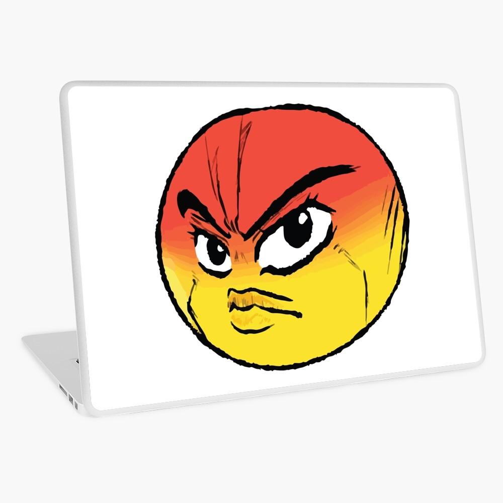 Angry Jojo Emoji Ipad Case Skin By Eggowaffles Redbubble
