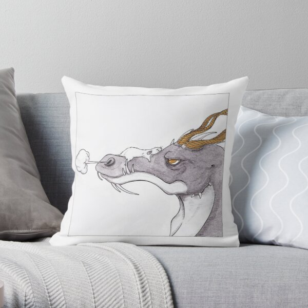 The Dragon and the Rat Throw Pillow