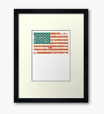 Grungy US flag Framed Print