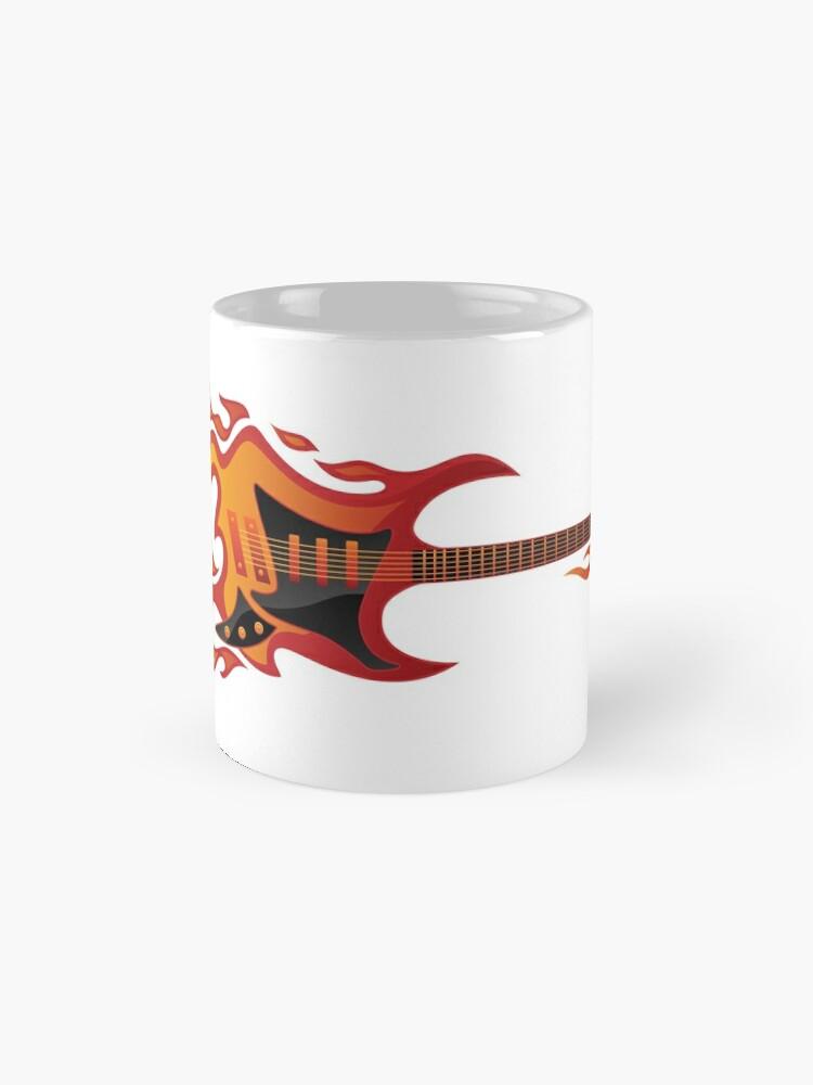 Alternate view of Electric Guitar Fire Illustration  Mug