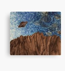 UFO Over Mountain Canvas Print