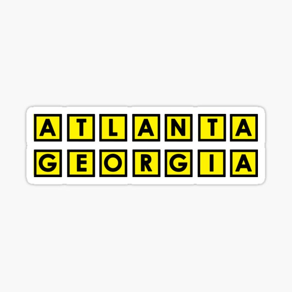 Atlanta Georgia Sticker