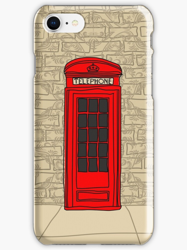 telephone booth iphone case by Anastasiia Kucherenko