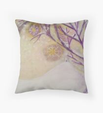 The New Snow Of Avalon Throw Pillow