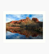 Sedona Reflection Art Print