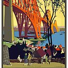 Vintage Flying Scotsman Scotland England Travel Vacation Holiday Advertisement Art Poster by jnniepce
