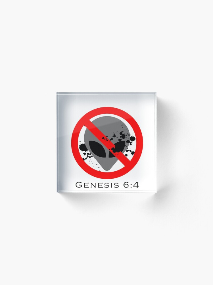 Alternate view of No Nephilim (Genesis 6:4) Acrylic Block