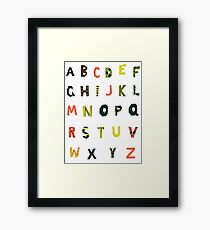 english alphabet Framed Print