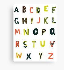 english alphabet Canvas Print