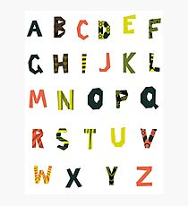 english alphabet Photographic Print