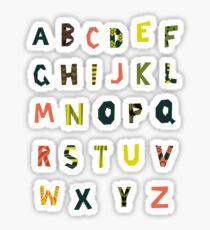 english alphabet Sticker