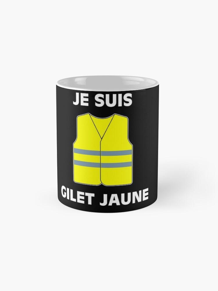 Vista alternativa de Taza Muestra tu apoyo a los chalecos amarillos. $ 2 por artículo serán donados a las víctimas de las protestas.