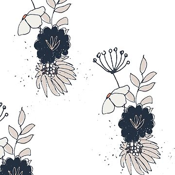 Colorful flowers hand painted in subtle pastel and fall colors // BHM04 white by Shirt-Kollektiv