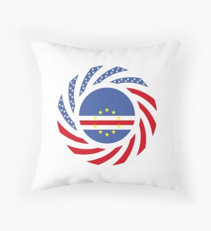 Cape Verdean American Multinational Patriot Flag Series 1.0 Throw Pillow