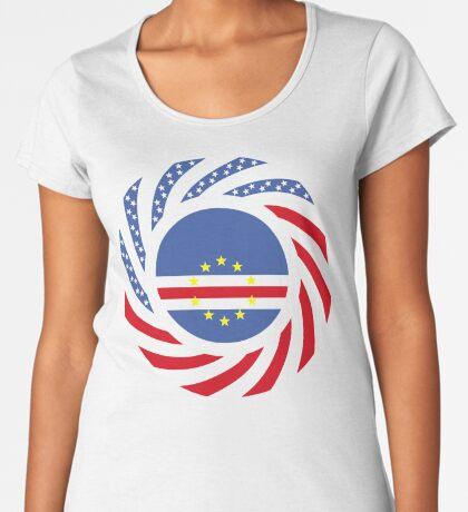 Cape Verdean American Multinational Patriot Flag Series 1.0 Premium Scoop T-Shirt