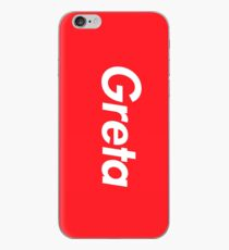 Hello My Name Is Greta Name Tag iPhone Case