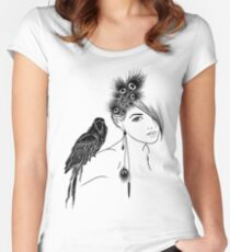 Parrot Girl 2 Women's Fitted Scoop T-Shirt