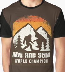 Vintage Retro Hide And Seek World Champion Bigfoot T-Shirt & Gifts Graphic T-Shirt