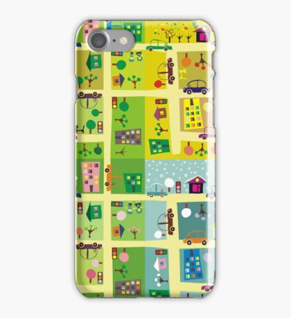 street during 4 seasons iPhone Case/Skin