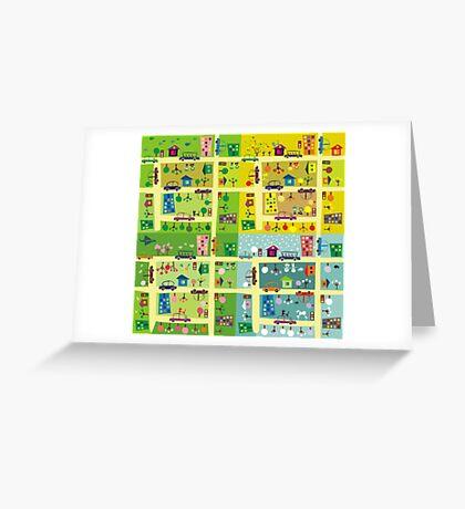 street during 4 seasons Greeting Card
