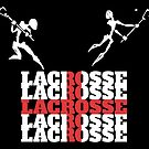 Lacrosse England Flag by SportsT-Shirts