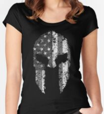 American Spartan - Subdued Women's Fitted Scoop T-Shirt