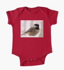 Chickadee In Snowstorm Kids Clothes