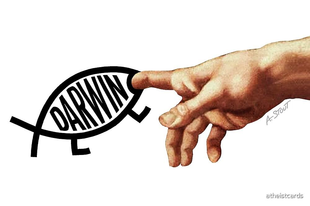 Darwin Bites Creator's Finger by atheistcards