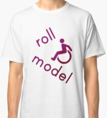 Roll Model - Disability Tees - in purple Classic T-Shirt