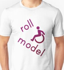Roll Model - Disability Tees - in purple Unisex T-Shirt