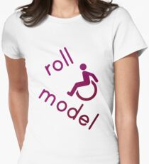 Roll Model - Disability Tees - in purple Women's Fitted T-Shirt