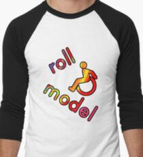 Roll Model - Disability Tees - in bright colours Baseball ¾ Sleeve T-Shirt