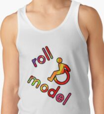 Roll Model - Disability Tees - in bright colours Tank Top