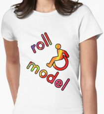 Roll Model - Disability Tees - in bright colours Fitted T-Shirt