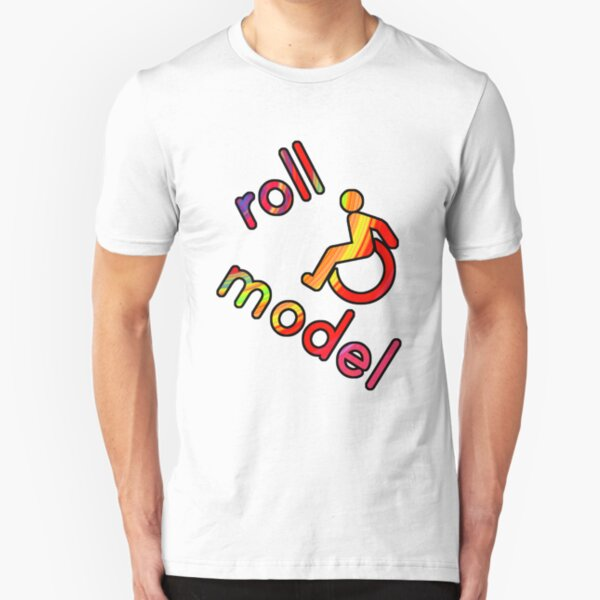 Roll Model - Disability Tees - in bright colours Slim Fit T-Shirt