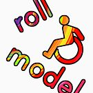 Roll Model - Disability Tees - in bright colours by incurablehippie