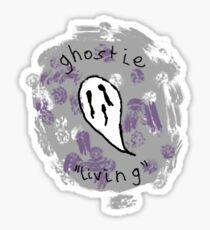 """Ghostie """"Living"""" Logo Sticker"""