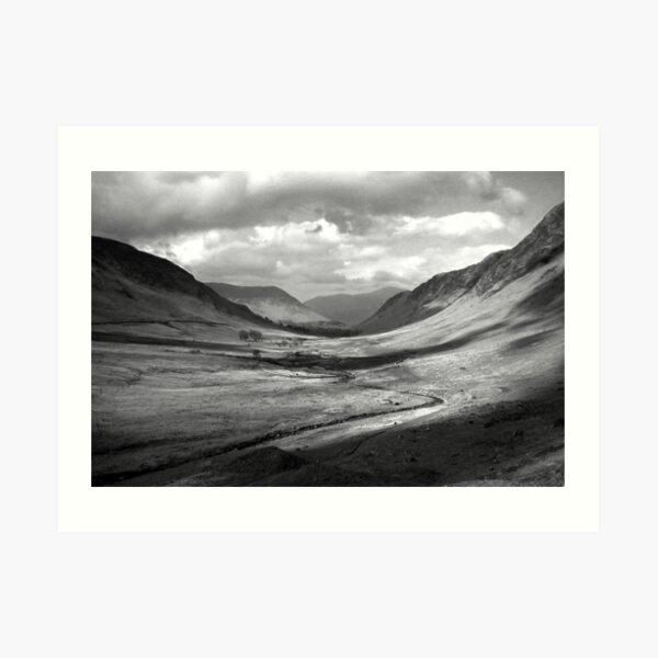 Newlands Valley  b&w Art Print