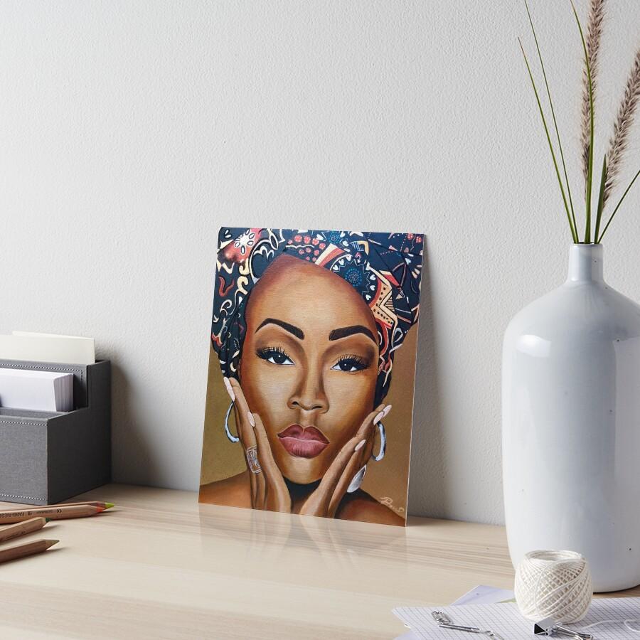 Brown Skin Art Board Print
